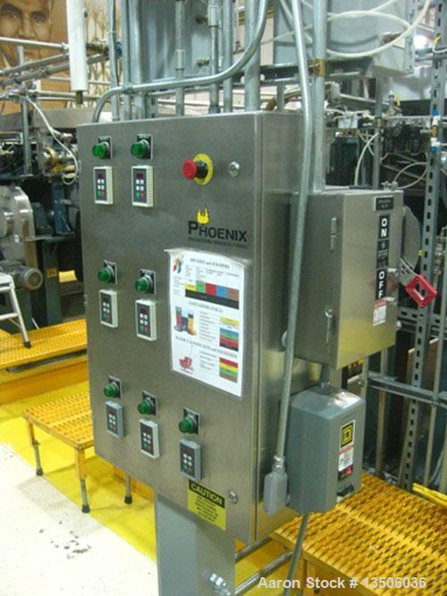 "Used-Phoenix Engineering 40"" Diameter x 144"" Face Double Drum Dryer, chrome rolls 150 psi @ 365 deg F. ASME code. Drum drive..."