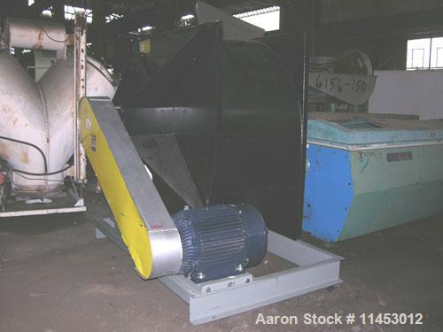 """Used-Used: Witte fluid bed dryer system. 42"""" wide x 18' long, perforated wedge wire bed, stainless steel construction. 3 hp ..."""