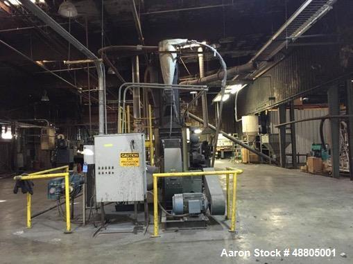 """Used- ACT Fluid Bed Dryer, 20""""W x 12'L Drying Area"""