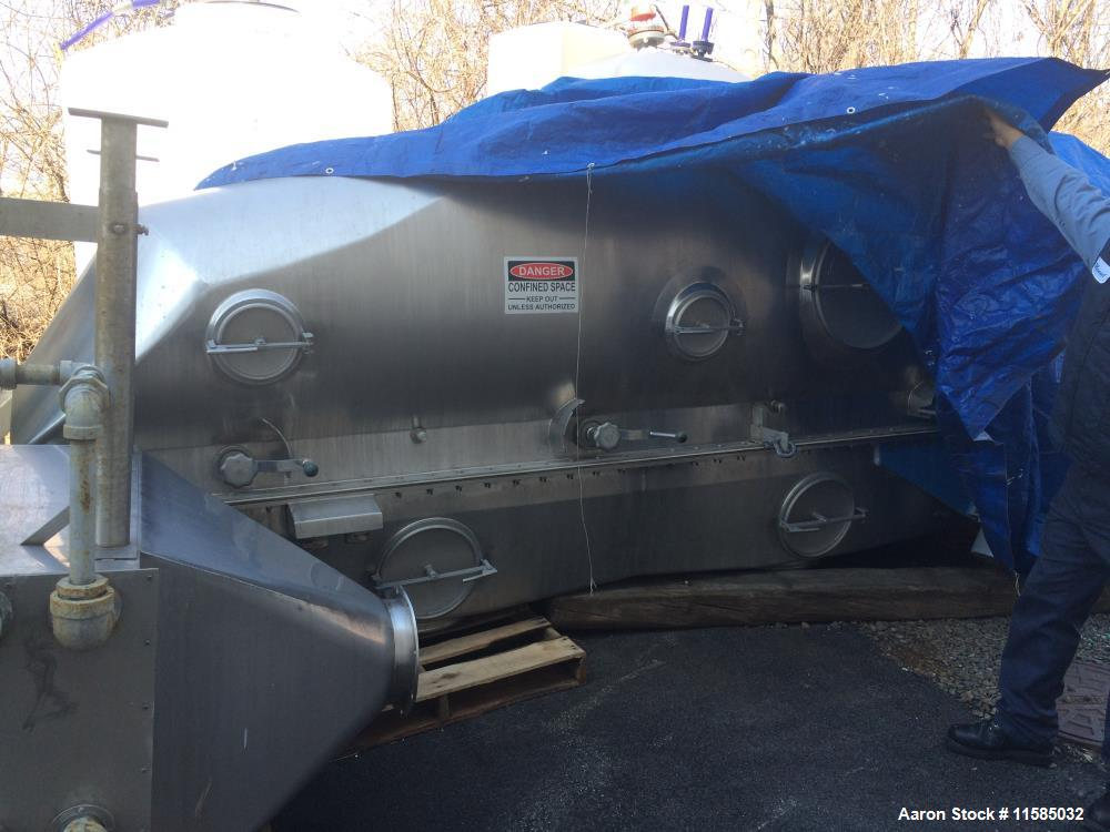 """Used- Anhydro Fluid Bed Dryer. 24"""" x 16' 6"""" long. Stainless Steel. Includes base, bottom, cover, .6kw shaker motor, 3 pressu..."""