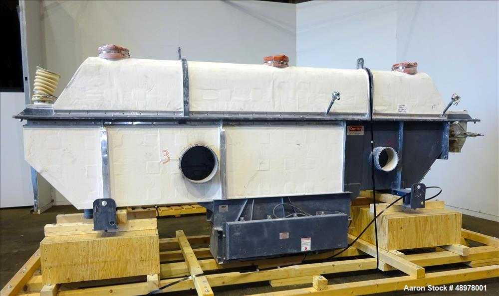 Used- Carrier Vibrating Equipment Inc. Vibratory Fluid Flow Continuous Fluid Bed