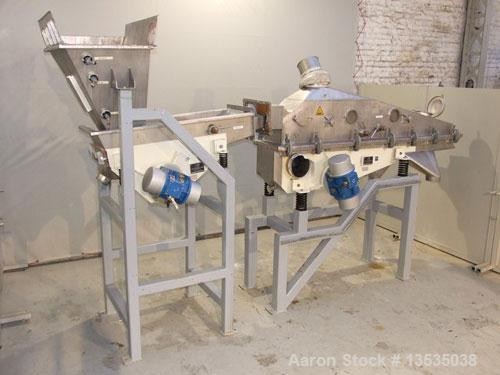Used-Vibra Schultheis Fluid Bed Dryer, model VSK 10-5-5/3, stainless steel. Comprised of:(1) Vibra fluid bed dryer with inte...