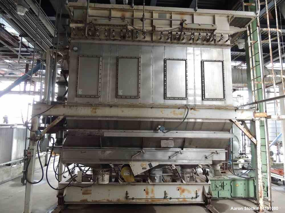 "Used- 36"" x 12' Witte T316L SS Fluid Bed Dryer"
