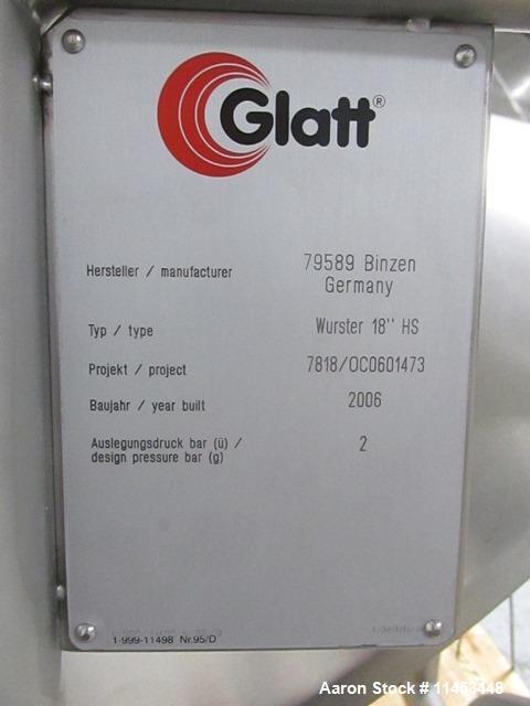 """Used- Glatt 18"""" Wurster"""