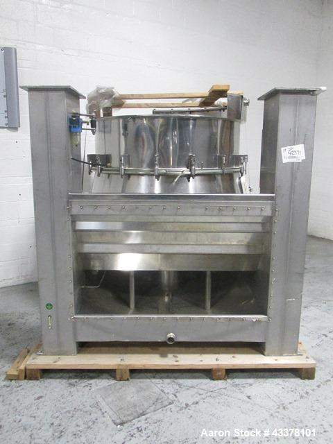 Used- Aeromatic Fluid Bed Dryer, Model S-8/2. Stainless steel product contact surfaces, rated 2 bar internal shock rating, w...