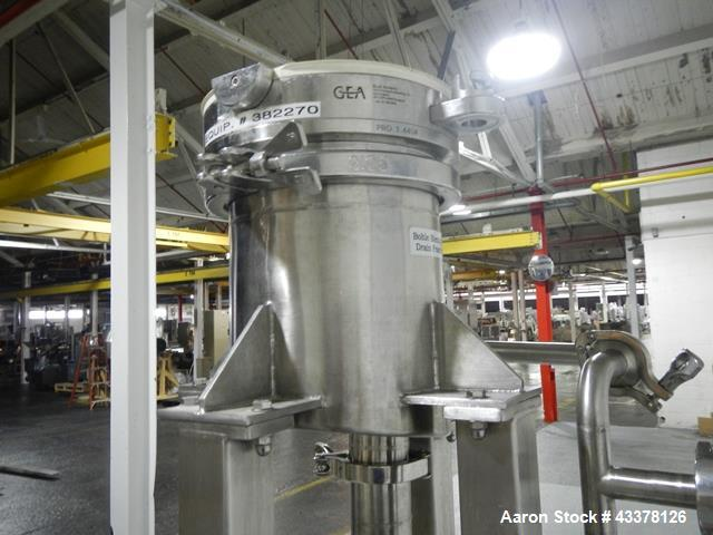 Used- Aeromatic Fluid Bed Dryer, Model T/SG7. K3 Bowl size, 1245 liters capacity, steam heated with air handling system, blo...