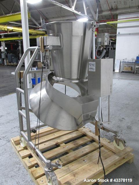 """Used- Glatt 18"""" HS Wurster Insert. 316L Stainless steel construction, with expansion chamber and self dumping bowl with cyli..."""