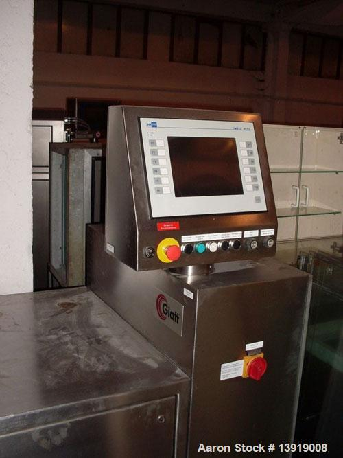 Used-Glatt GPCG 3 Fluid Bed Dryer/Granulator.  Stainless steel construction, explosion proof, 95.7 psi pressure shock resist...