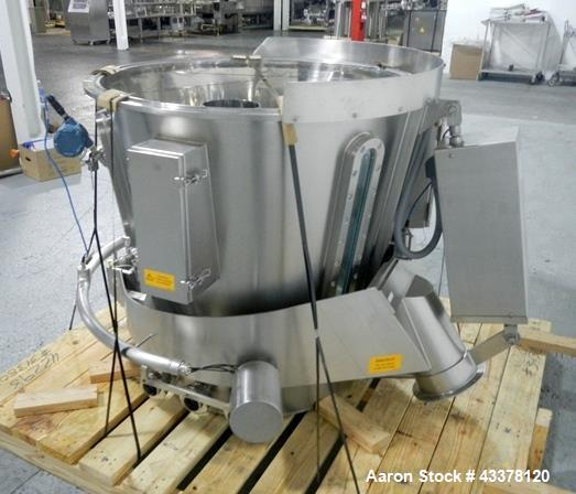 Used- Glatt GPCG 60 SRS fluid bed dryer Wurster insert with expansion chamber, stainless steel construction, serial# A07817,...