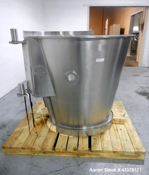 Used- Glatt GPCG 60 SRS fluid bed dryer Wurster insert with expansion chamber, stainless steel construction, serial# A07197,...