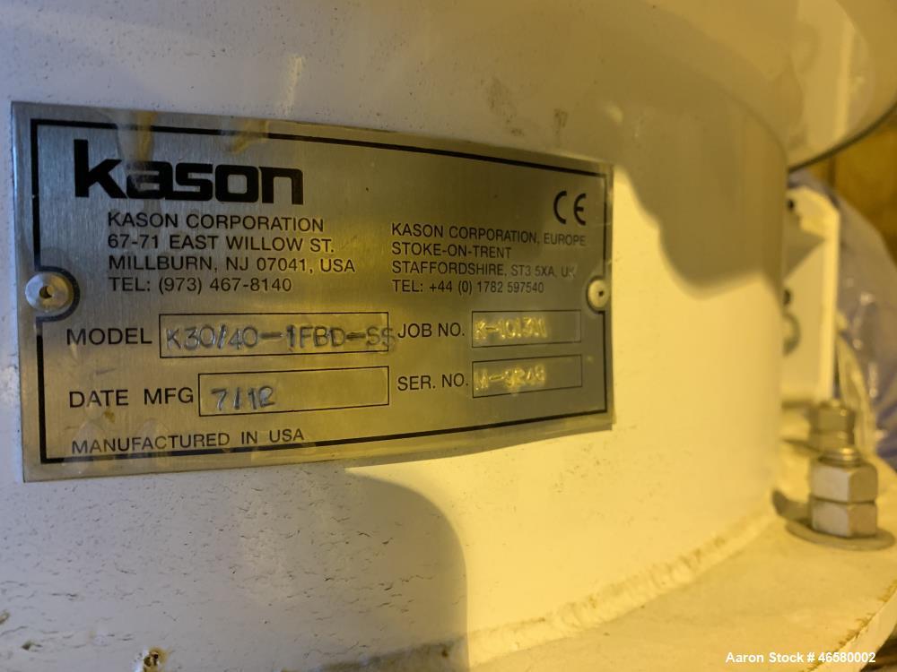 Used- Kason Fluid Bed Dryer