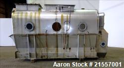 "Used-Scott Fluid Bed Dryer, Stainless Steel. Approximate 32"" wide x 13' long, approximately 32 square feet of drying area. I..."