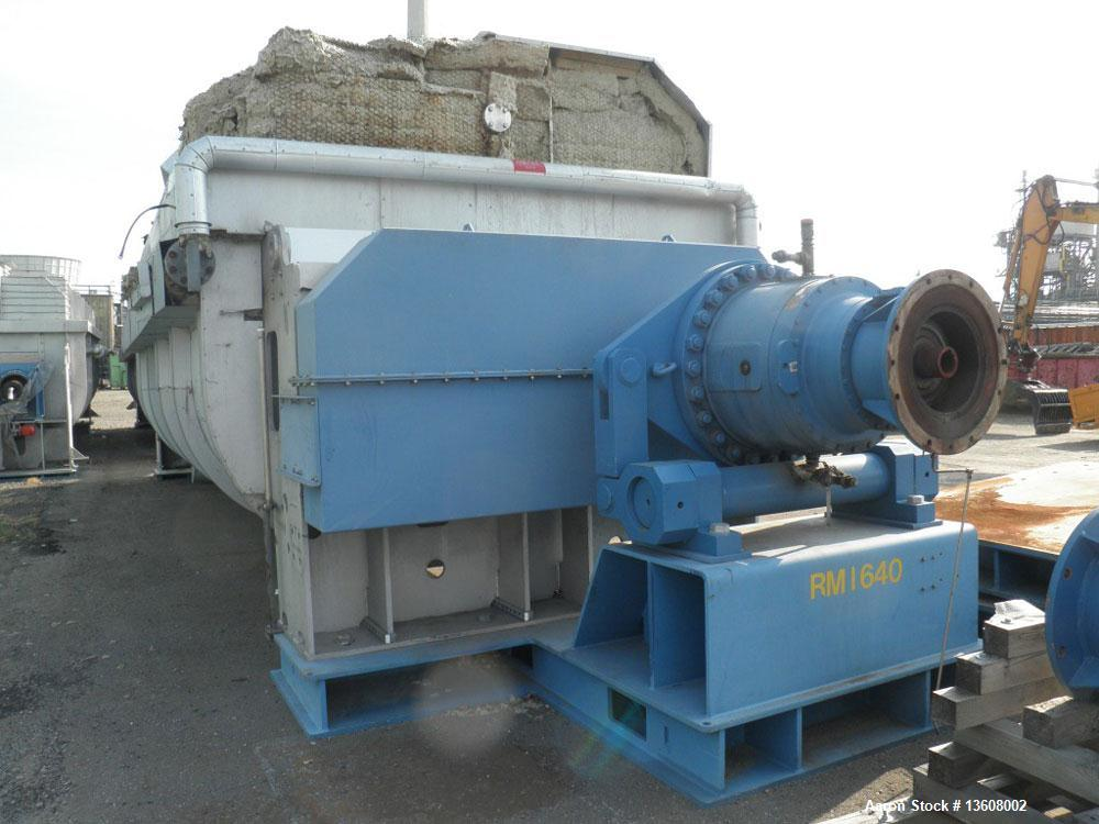 Used- Gouda Nara 14W-190 Continuous Double Paddle Dryer/Hollowflight Screw Processor.  316L Stainless steel.  Heating surfac...