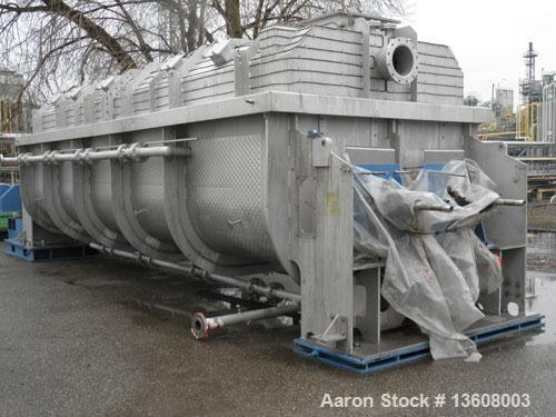 Used-Gouda Nara 14W-190 Continuous Double Paddle Dryer/Hollowflight Screw Processor.  316L Stainless steel.  Heating surface...