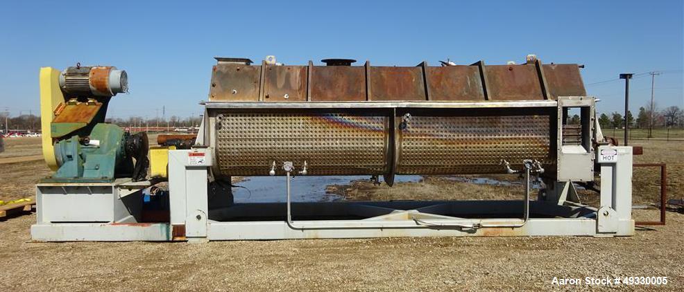 Used- Komline Sanderson NARA Paddle Dryer/Processor, Model NPD-9W-800.
