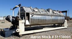 Used- Komline Sanderson NARA Paddle Sludge Dryer, Model 11W-1200.