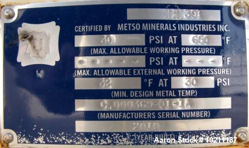 "Unused- Metso Minerals Holo-Flite Processor, Model S2420-6 DED, Carbon Steel, Horizontal. 24"" diameter x 240"" long x 6"" pitc..."