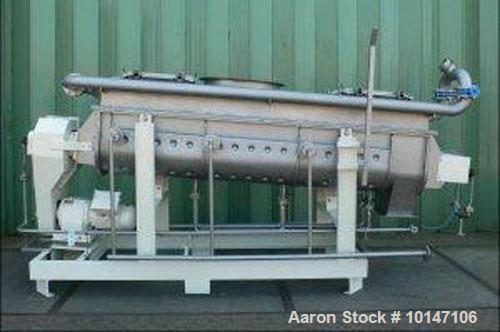 Used-Reconditioned Nara 4W-037 Continuous Paddle Dryer.  316L Stainless steel.  Capacity 24 cubic feet (680 litres), trough ...