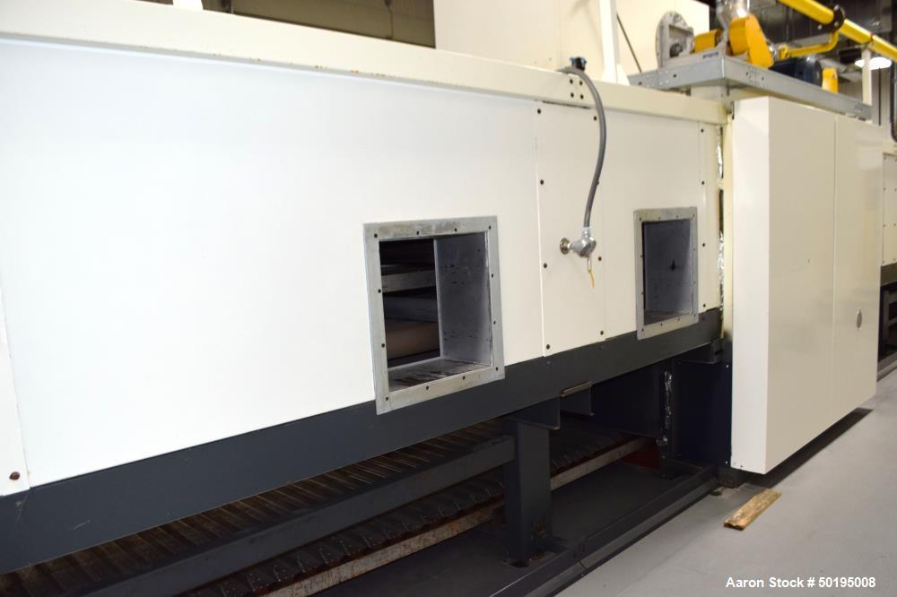 Used-Dong Yang Food Machinery LPG Direct Cyclotherm Hybrid Oven. (3) Zones total, (1) direct heating section approximate 10....