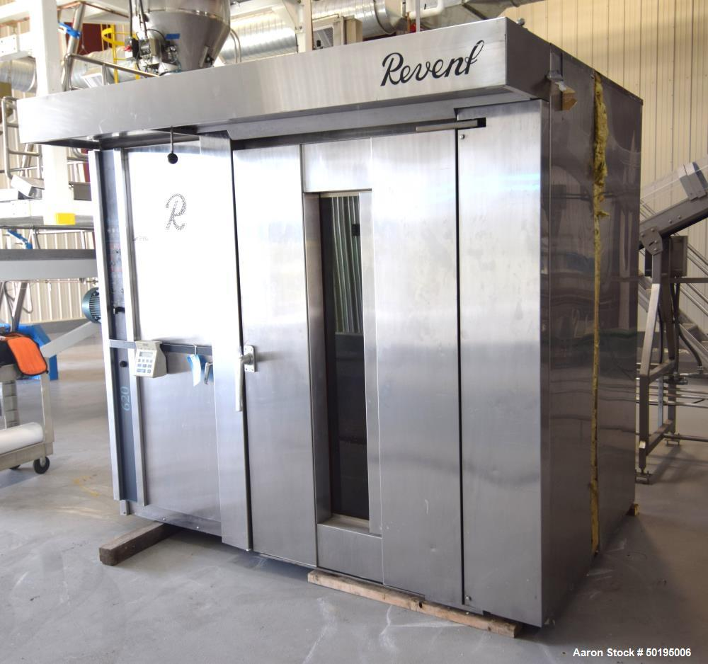 """Used-Revent 620 Double Rack Natural Gas Oven, Model 1X1GS135G. Approximate chamber 55"""" wide x 48"""" deep x 75"""" tall. Single hi..."""
