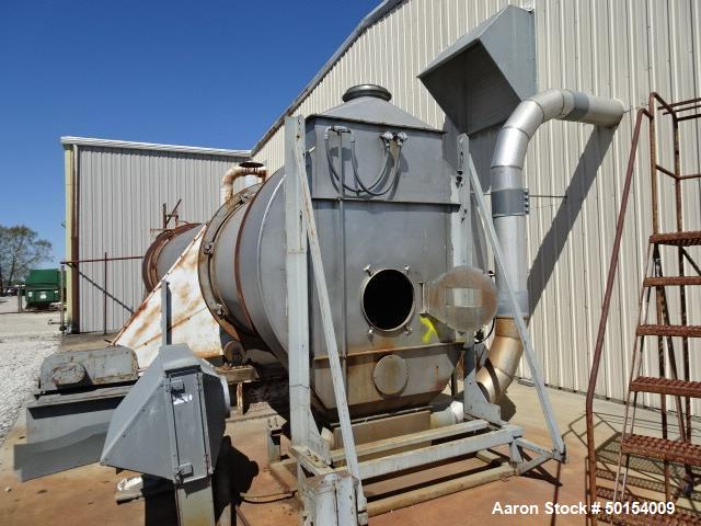 Used- Roto-Louvre Rotary Hot Air Dryer, 6' diameter x 32' long,
