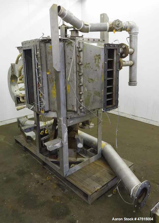 Used- Wyssmont Style Rotary Tray Dryer, 304 Stainless Steel.