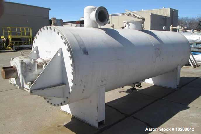 "Used- J.P. Devine Rotary Vacuum Dryer. 100 cubic foot. Chamber inside diameter: 48"". Chamber length: 15'. 304 stainless stee..."