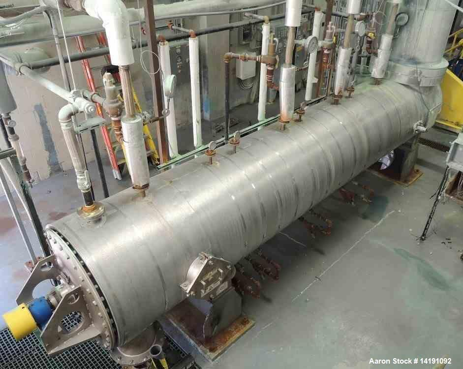 Used- Bepex Strong Scott Solidaire 304 Stainless Steel Jacketed Dryer