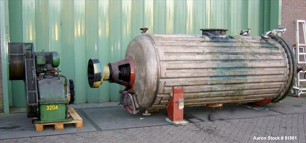 Used- Buss Rotary Vacuum Dryer, 75 Cubic Feet Working Capacity.