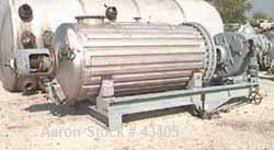 Used- Giovanola Rotary Vacuum Dryer, 77 Cubic Feet Working Capaity, 316 Stainles