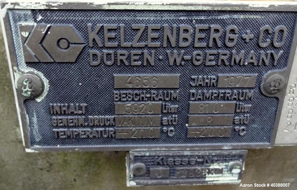 Used- Keltzenberg & Company Rotary Vacuum Dryer