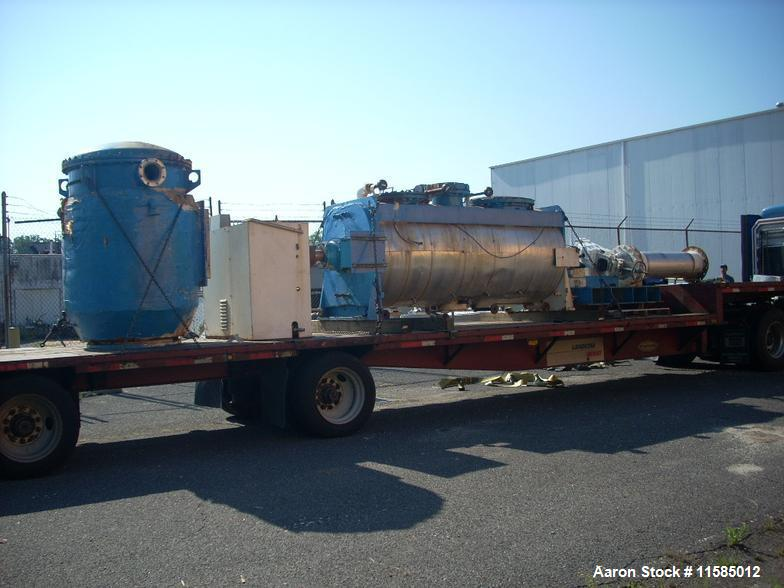 Used-Littleford Model VT-3000-D (4Z) Batch Vacuum Mixer/Dryer, 106 cubic foot capacity.  Type 316 stainless steel contact pa...