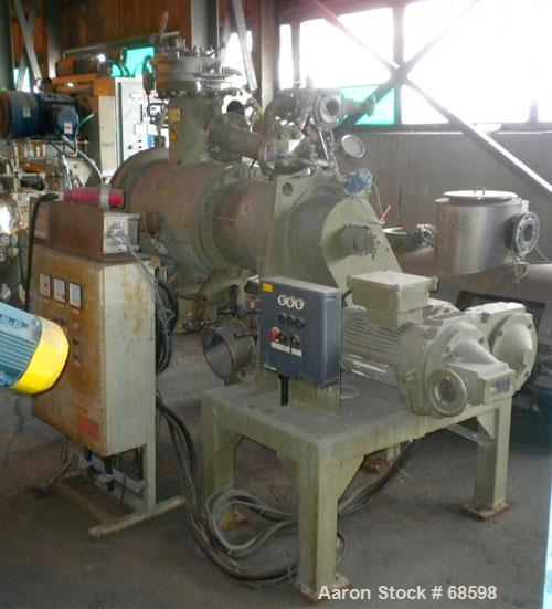 Used- Stainless Steel Lodige Plow Mixer/Reactor, Type DVT 130