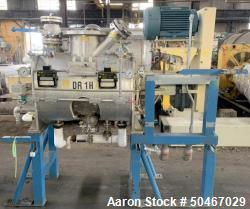 Used-Littleford mixer / reactor, Model DVT300D, stainless steel construction, 9.9 cu ft total capacity, 6 cu ft working capa...