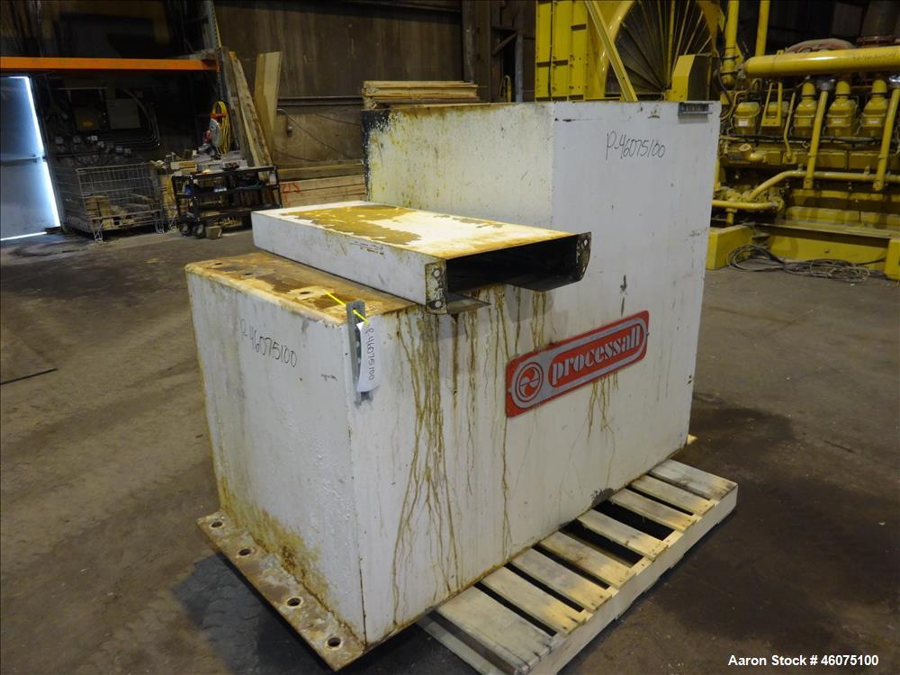 Used- Processall Rotary Vacuum Dryer Plow Mixer, Model 1200