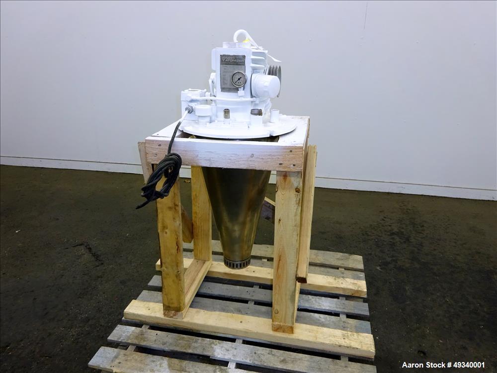 Used- Niro Atomizer, Model F10-AV00-NPS-S, 316 Stainless Steel