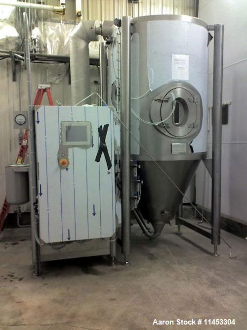Used- Anhydro MicraSpray Model MS 400 Spray Dryer System, Stainless Steel. Max, inlet temperature: 325 DEG. C (617 DEF F), M...