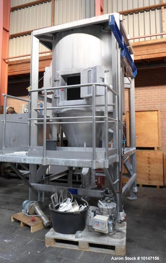 "Used- APV Anhydro Spray Dryer, type CF-100 SE. Material of construction is stainless steel. 52"" (1580 mm) dia drying tower, ..."