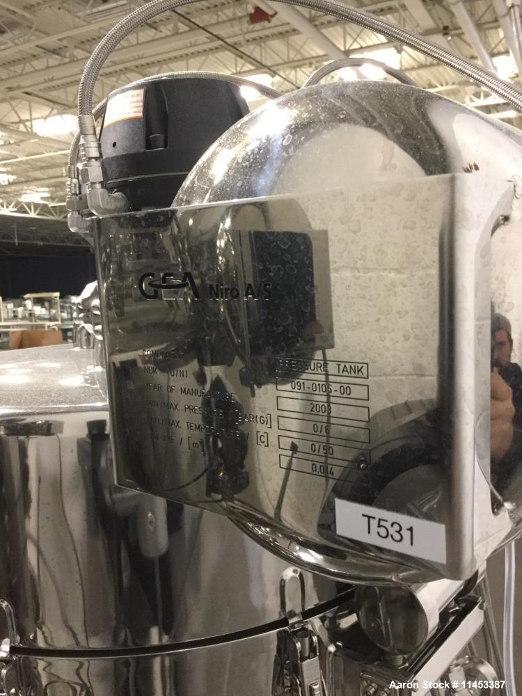 "Used- 31"" GEA Niro Pharma Sanitary Spray Dryer, Model PSD-1-R/N-60."