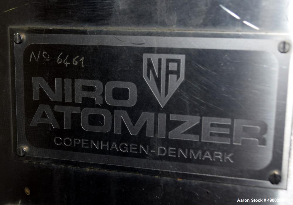 Used- Niro Versatile Utility Spray Dryer, 316 Stainless Steel.