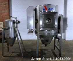 Used APV Anhydro Electrically Heated Pilot Spray Drying Plant, Model PSD 52, 316 Stainless Steel. Heat consumption at 350 de...