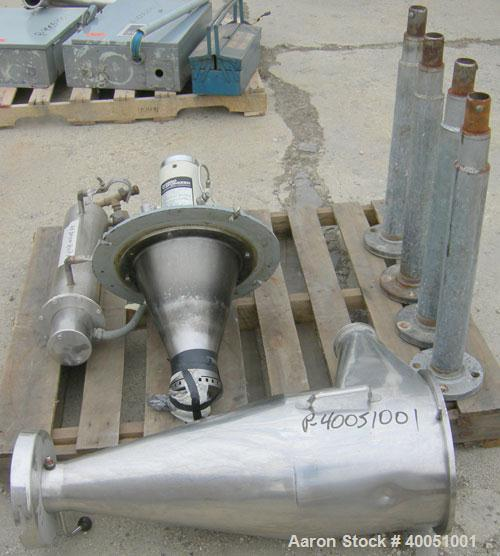 """Used: Niro 'UTILITY' Atomizer Spray Dryer. 316 stainless steel. Chamber measures 48"""" diameter x 30"""" straight side x 36"""" cone..."""