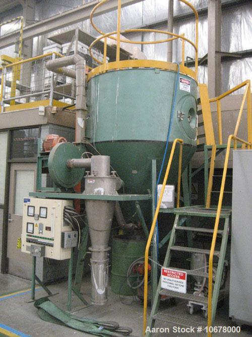 Used-Niro 6.3 stainless steel spray dryer. 1600mm ID Diam x 800mm straight side x 1300 coneFU-11 Rotary atomizer with a Danf...