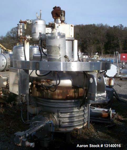 Used-3V Inc Cogeim Agitated Jacketed Vacuum Hastelloy Pan Dryer