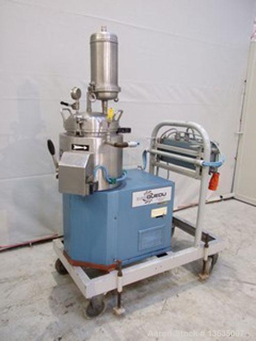 Used-Guedu 12 NO/PO Mixer/Dryer. 10 liters (2.5 gallons) working capacity, made of stainless steel, double envelope heating,...