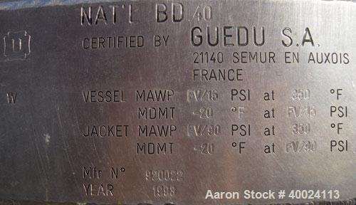Used- 1600 Liter Guedu Mixer/Dryer
