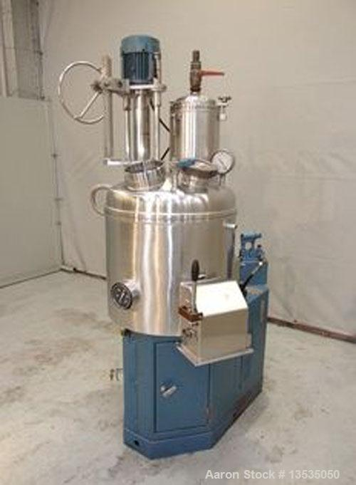 Used-Guedu 90 NO/PO Mixer/Dryer, stainless steel, 23.8 gallons (90 liters) total capacity, jacketed, 10 hp, 50 hz drive.  In...