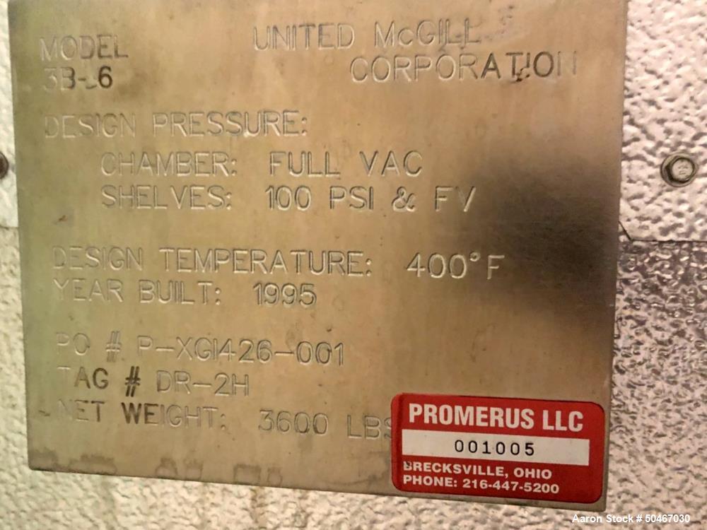 Used- United McGill Vacuum Shelf Dryer, Model 3B-6