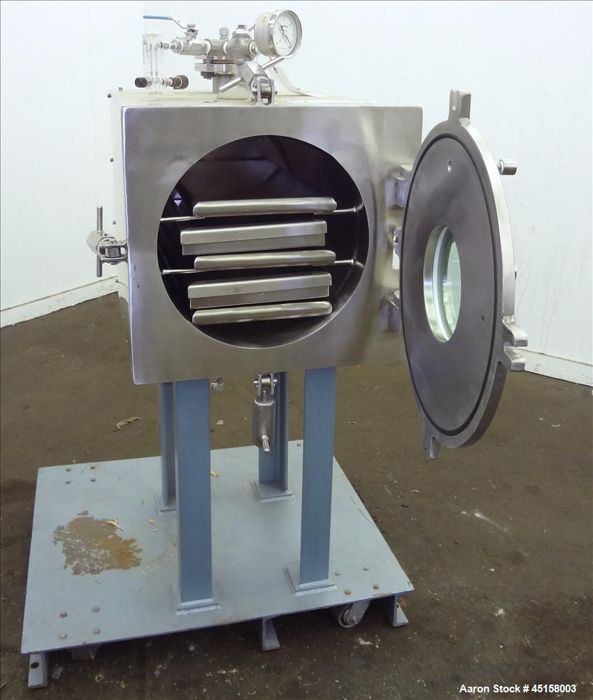 Used- Stainless Steel United McGill Vacuum Shelf Dryer, Model MD-1