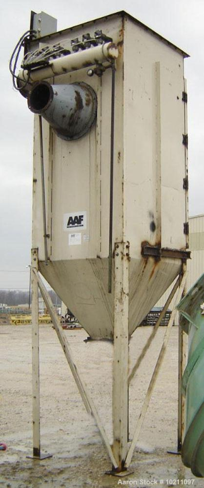 "Used-American Air Filter (AAF) Pulse Jet Dust Collector, 600 Square Feet, Model 2, Design M, Size 6-168600. 10"" inlet and 10..."